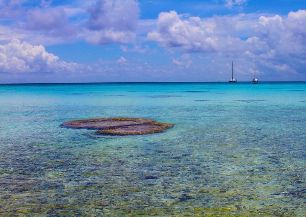 Rangiroa atoll in French Polynesia